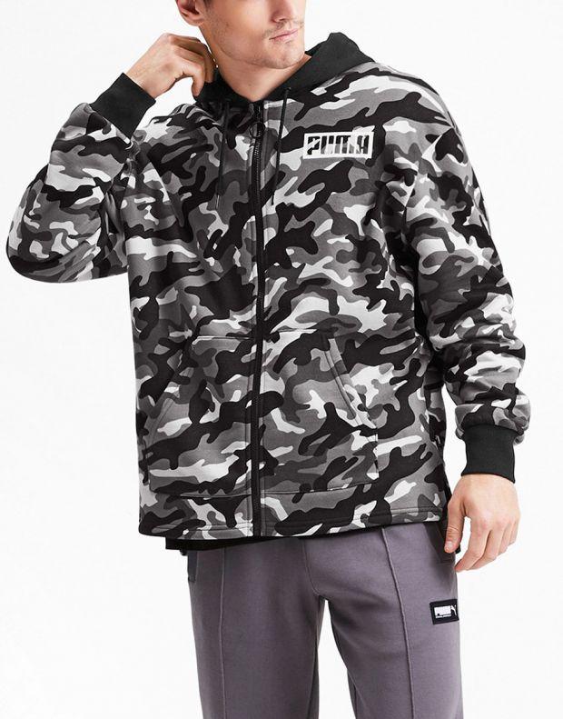 PUMA Rebel Camo Full Zip Fleece Hoodie Multicolour - 580557-01 - 3
