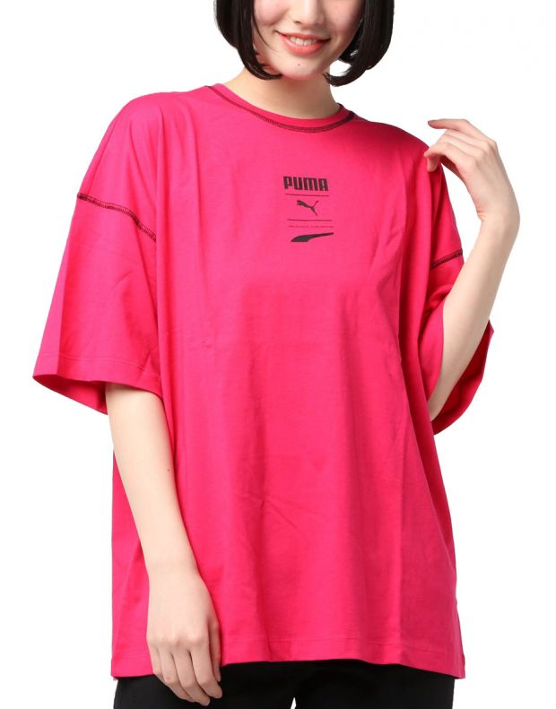 PUMA Recheck Pack Graphic Tee Pink - 597890-18 - 1