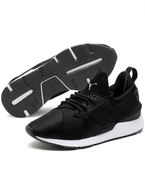 PUMA Muse Satin II Sneakers Black - 3