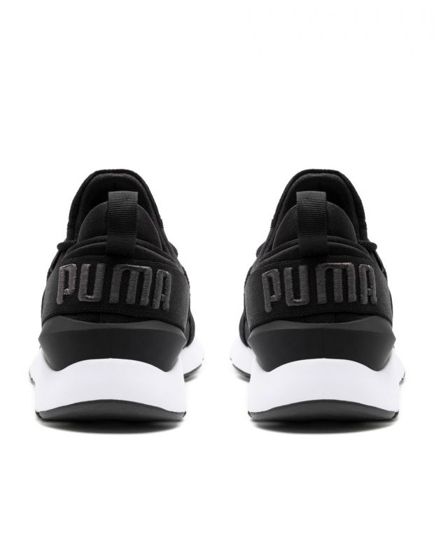 PUMA Muse Satin II Sneakers Black - 4
