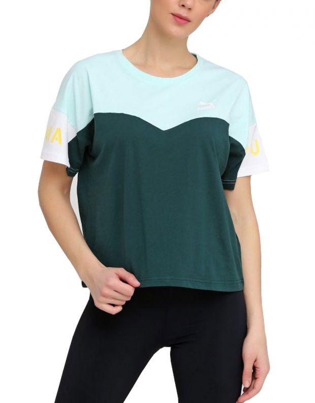 PUMA Xtg Colorblock Tee Green - 578090-34 - 1
