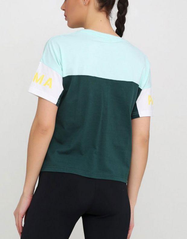 PUMA Xtg Colorblock Tee Green - 578090-34 - 2