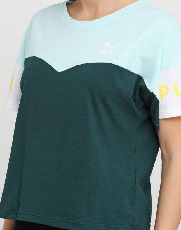 PUMA Xtg Colorblock Tee Green - 578090-34 - 3