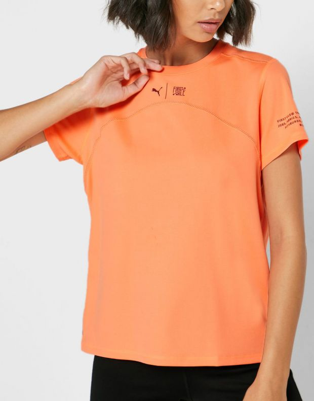 PUMA x First Mile Running Tee Orange - 519011-03 - 3