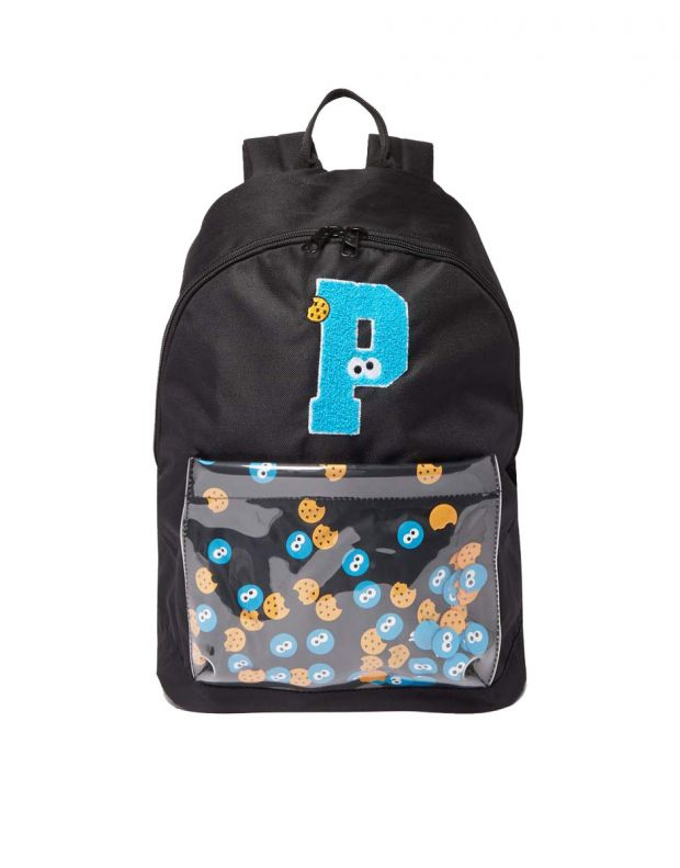 PUMA x Sesame Street Sport Kids Backpack Black - 076654-01 - 1