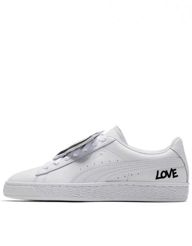 PUMA Basket Badge White - 370190-01 - 1