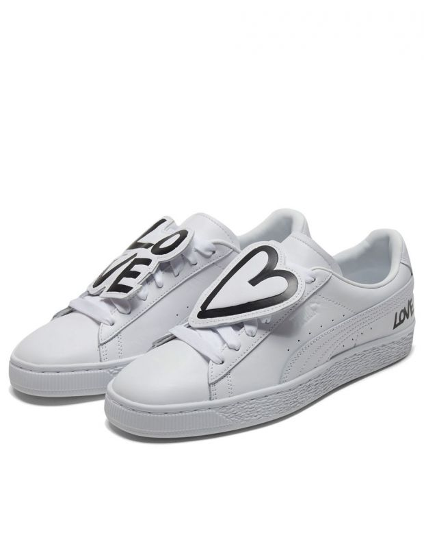 PUMA Basket Badge White - 370190-01 - 3