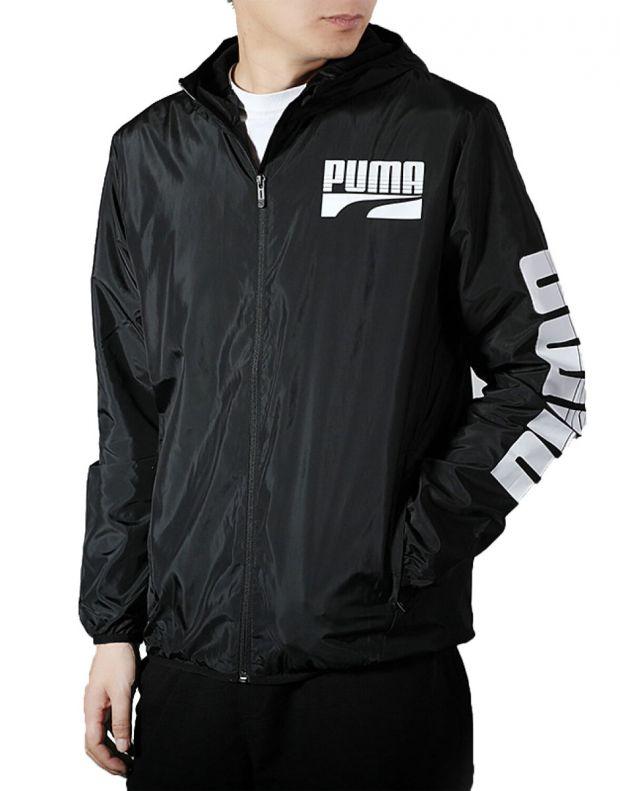 PUMA Graphic Full Zip Rain Jacket Black - 580836-01 - 1