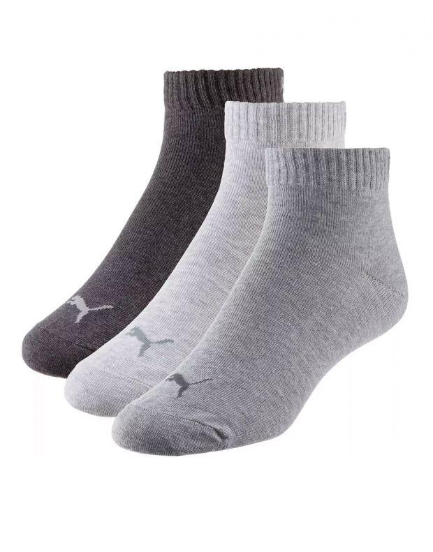 PUMA Quarter Socks 3 Pack Grey - 1