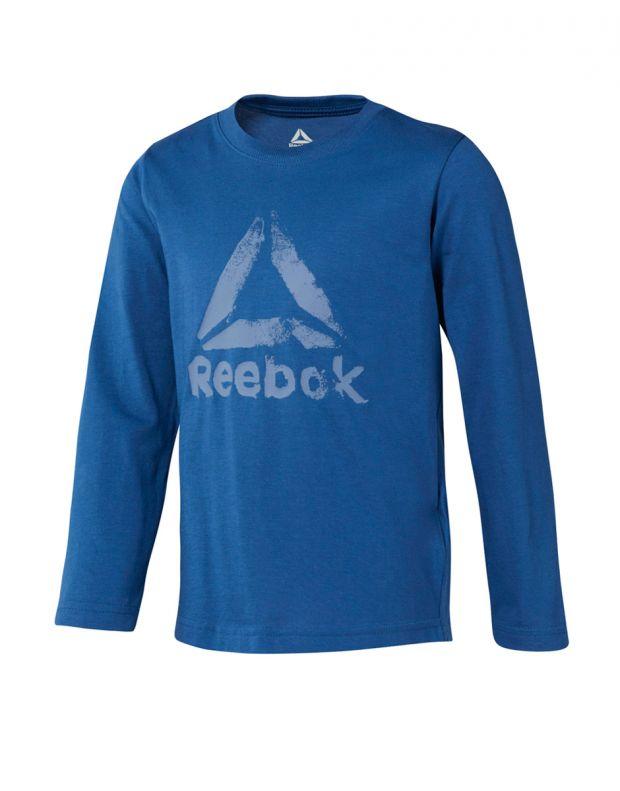 REEBOK Boys Elements Longsleeve Blouse Blue - DH4342 - 1