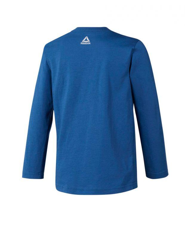 REEBOK Boys Elements Longsleeve Blouse Blue - DH4342 - 2