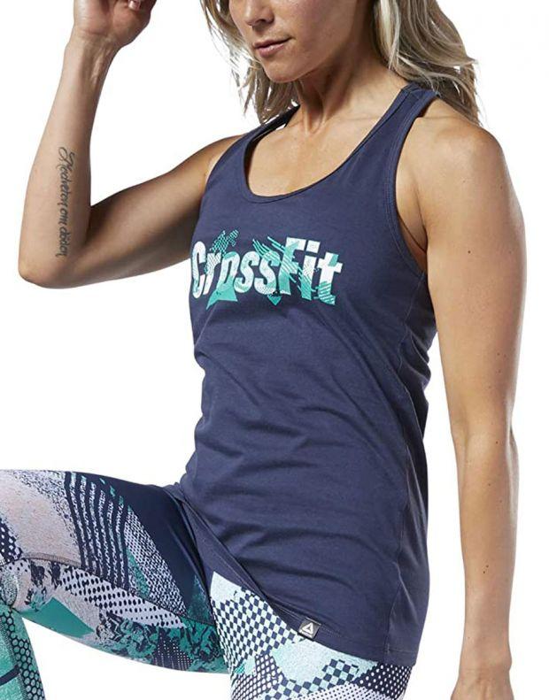 REEBOK CrossFit Print Fill Logo Tank Top Blue - EC1499 - 3