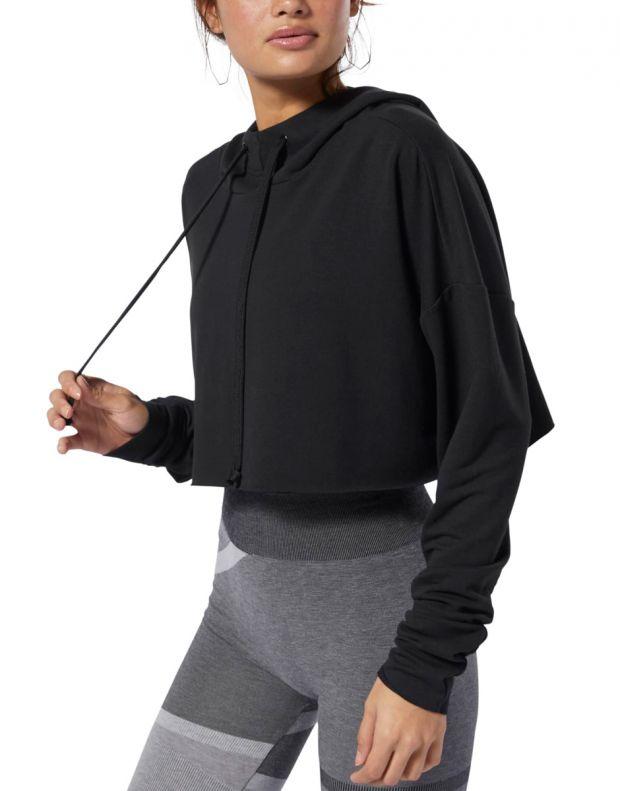 REEBOK Dance Cropped Hoodie Black - DW8523 - 3