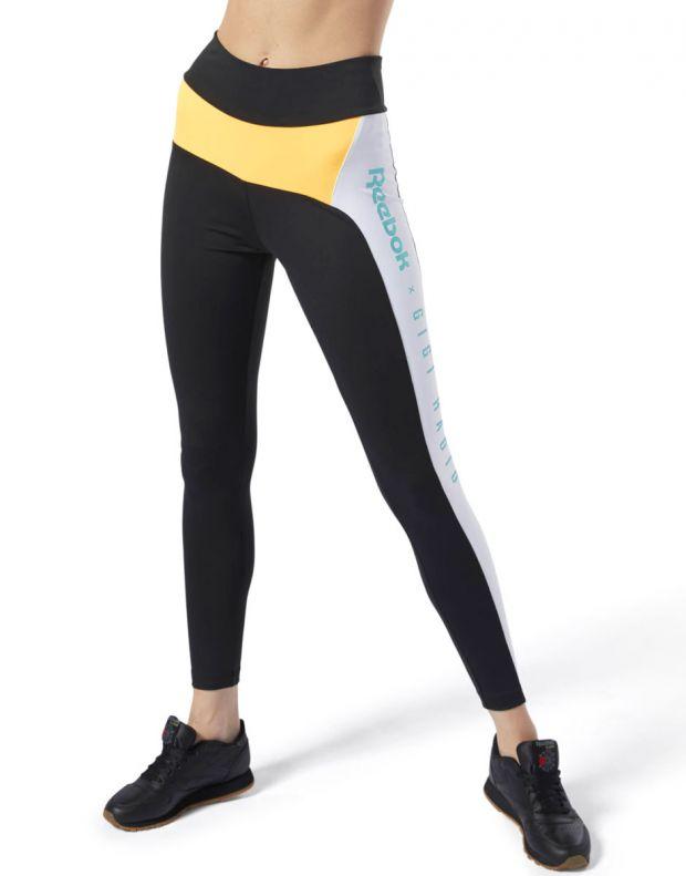 REEBOK x Gigi Hadid Legging Black & Yellow - DY9378 - 1