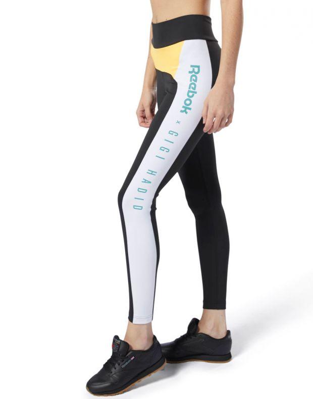 REEBOK x Gigi Hadid Legging Black & Yellow - DY9378 - 3