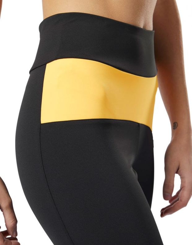 REEBOK x Gigi Hadid Legging Black & Yellow - DY9378 - 4