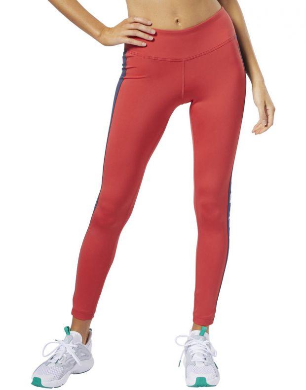 REEBOK Linear Logo Leggings Red - FI4803 - 1