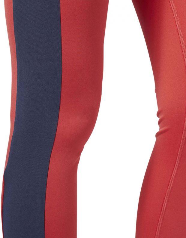 REEBOK Linear Logo Leggings Red - FI4803 - 5