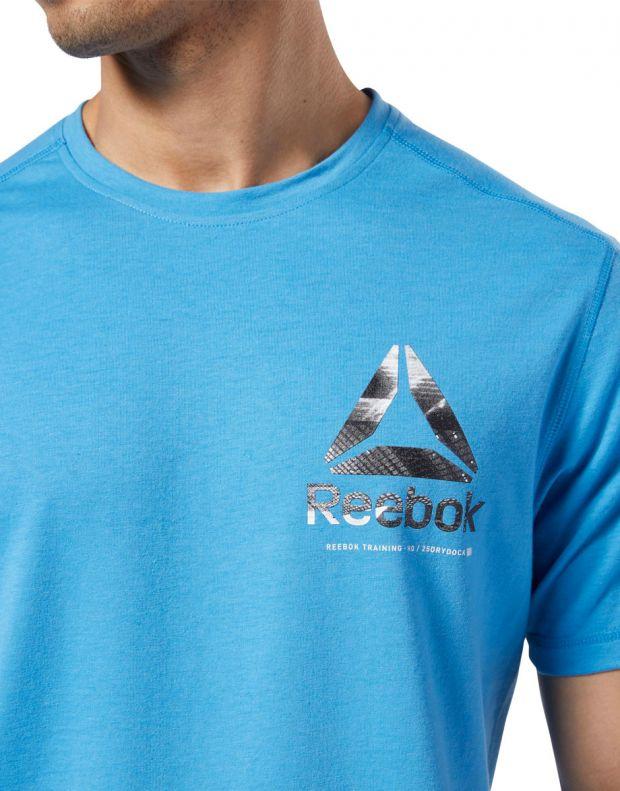 REEBOK One Series Training Speedwick Tee Blue - EC1029 - 4