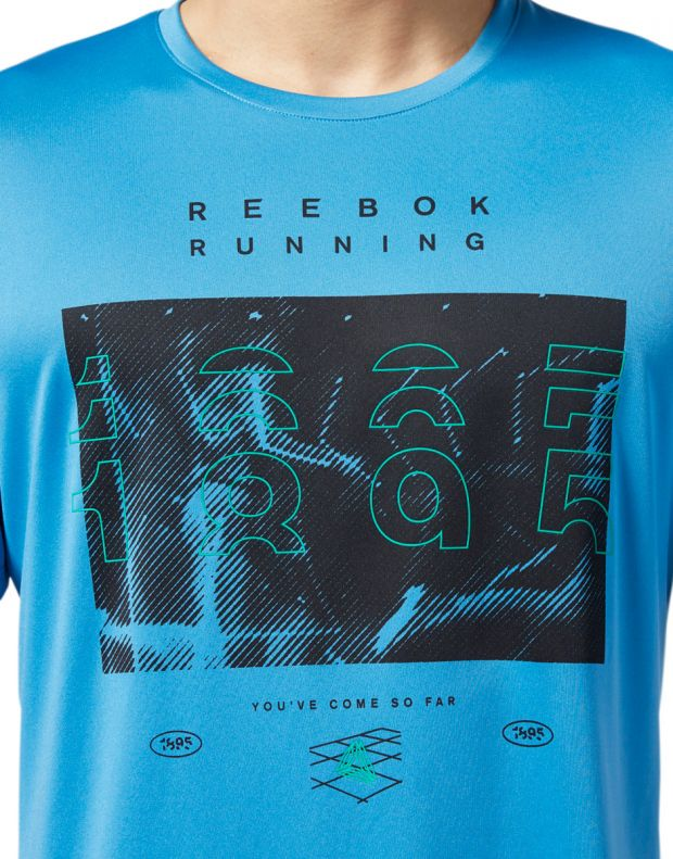 REEBOK Reebok Running Crew Tee Blue - EC2546 - 5
