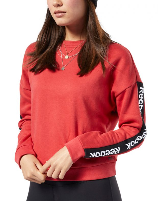 REEBOK Training Ess Logo Crew Sweatshirt Red - EK1357 - 1