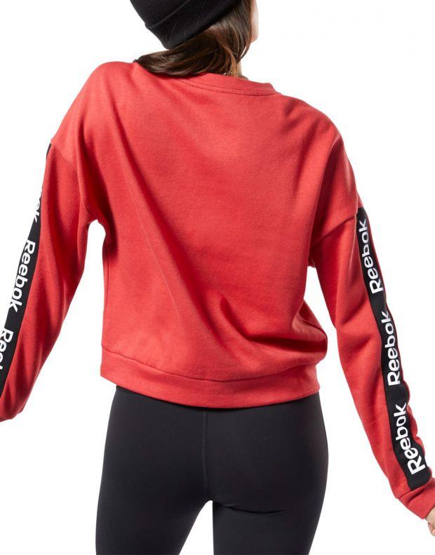 REEBOK Training Ess Logo Crew Sweatshirt Red - EK1357 - 2