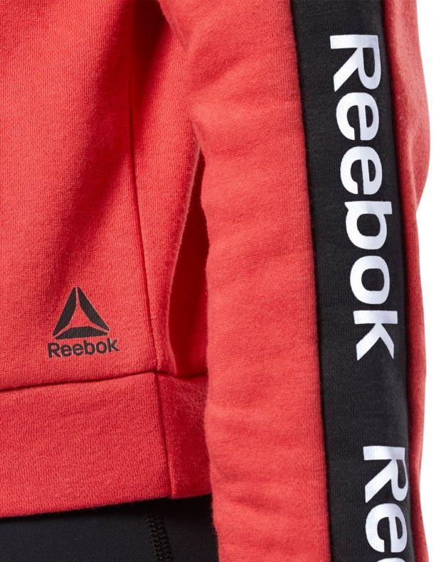REEBOK Training Ess Logo Crew Sweatshirt Red - EK1357 - 4