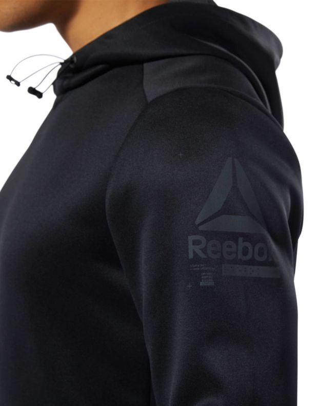 REEBOK Training Spacer Hoodie Black - DU3980 - 4