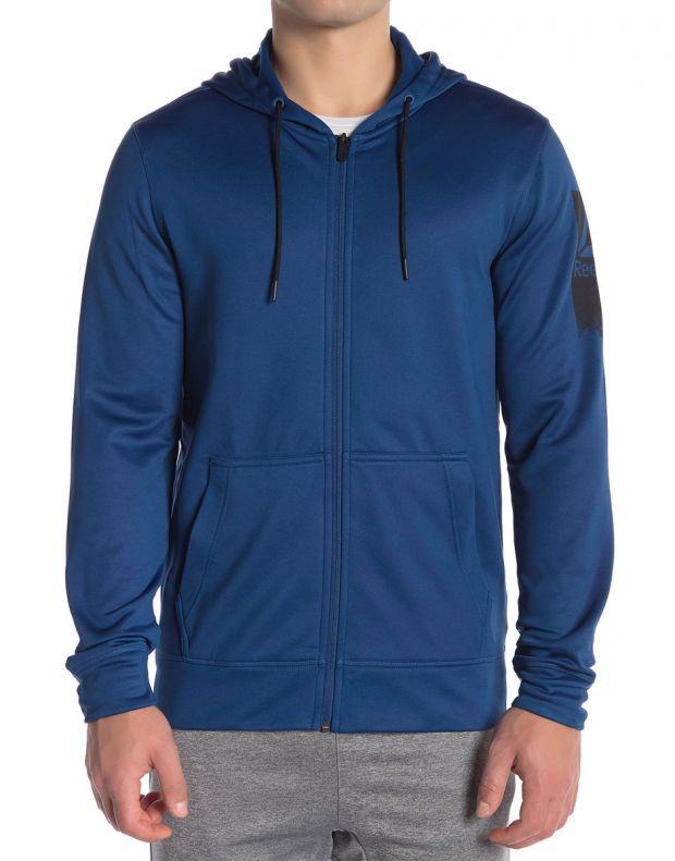 REEBOK Work Out Ready Poly Fleece Full Zip Hoodie - D94228 - 1