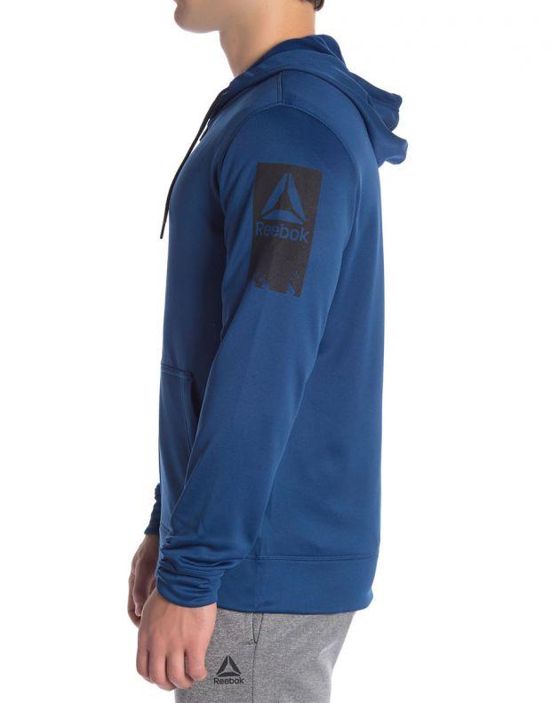 REEBOK Work Out Ready Poly Fleece Full Zip Hoodie - D94228 - 3