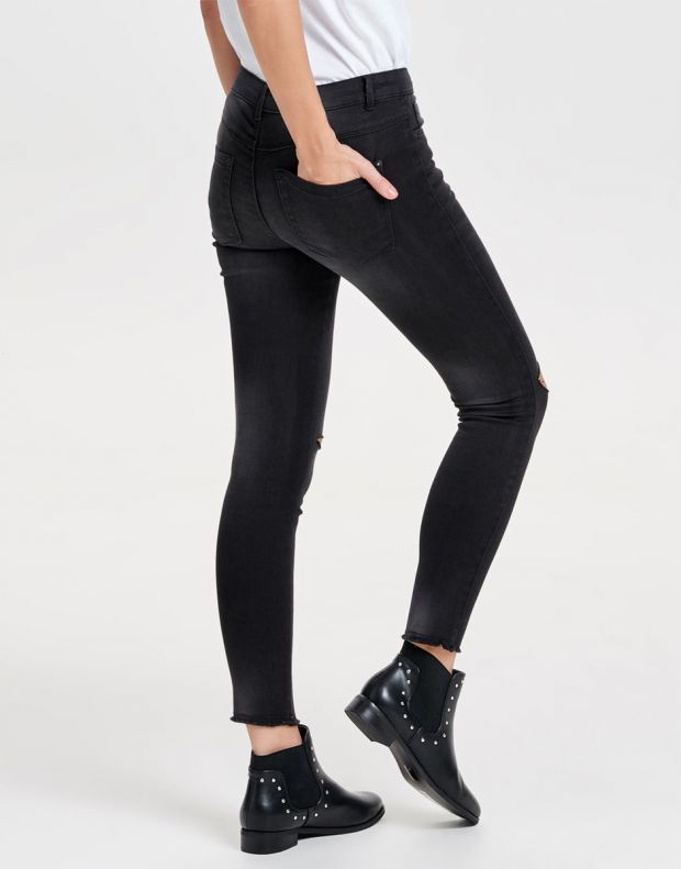 ONLY Royal Reg Ankle Kneecut Skinny Fit Jeans - 4