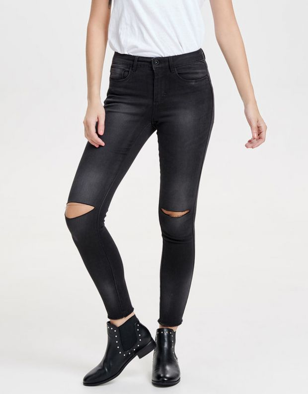 ONLY Royal Reg Ankle Kneecut Skinny Fit Jeans - 5