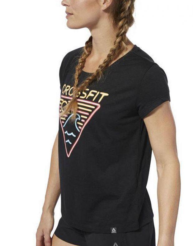 Reebok CrossFit Neon Retro Easy Tee Black - DP6219 - 3