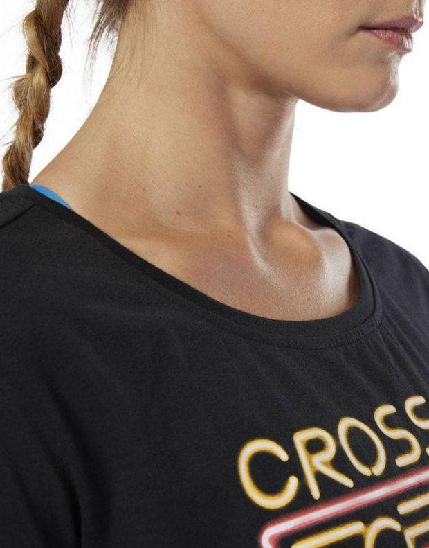 Reebok CrossFit Neon Retro Easy Tee Black - DP6219 - 4