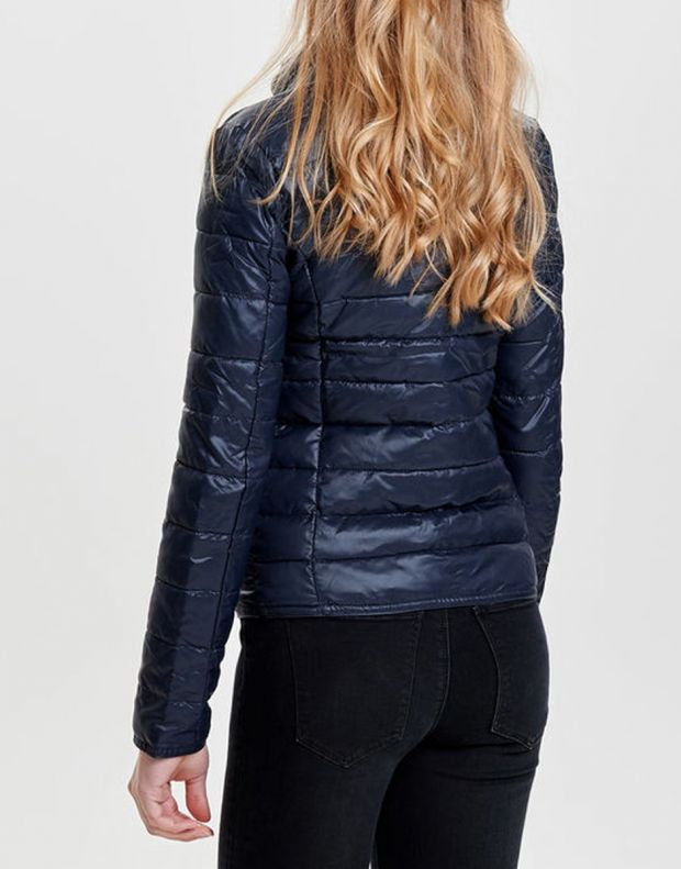 ONLY Short Quilted Jacket Blue - 4