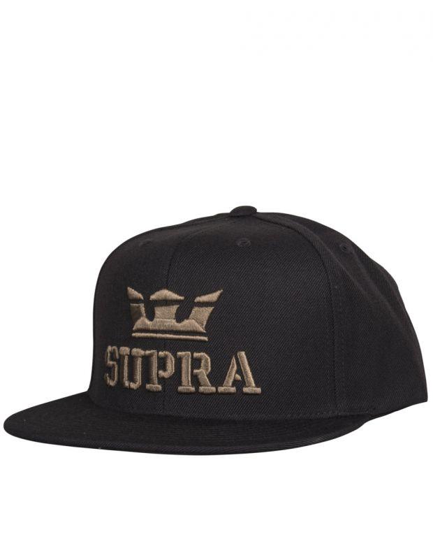 SUPRA Above Snapback Hat Black/Dark Olive - C3501-081 - 1