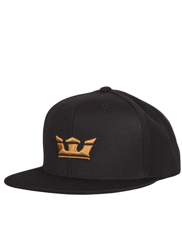 SUPRA Icon Snapback Hat Black/Tan - C3502-080 - 1