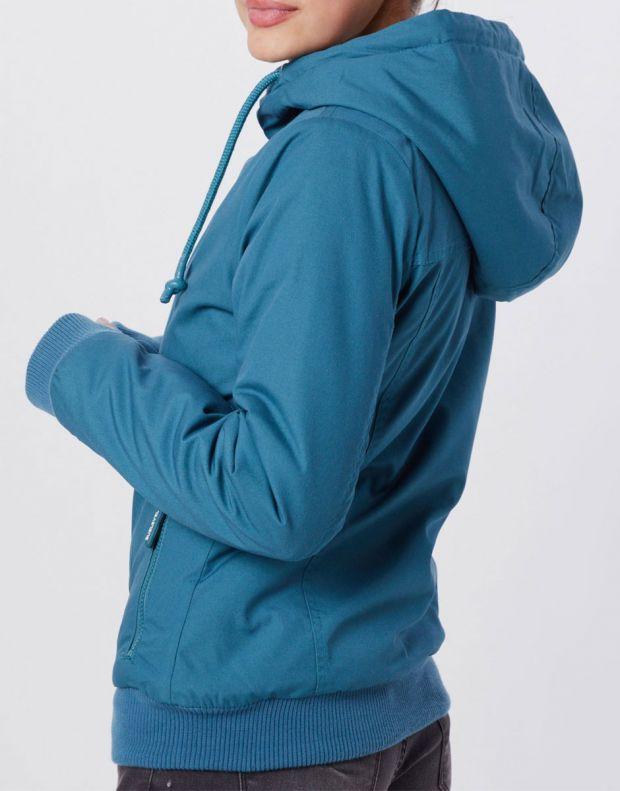 SUBLEVEL Asymmetric Zip Jacket Petrol - 2
