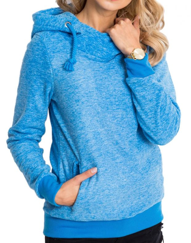 SUBLEVEL Fleece Hoodie Blue - 1