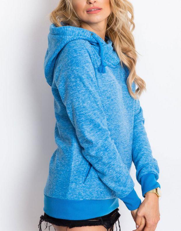 SUBLEVEL Fleece Hoodie Blue - 3