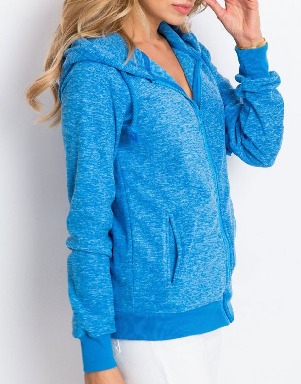 SUBLEVEL Fleece Zip Hoodie Blue - 3