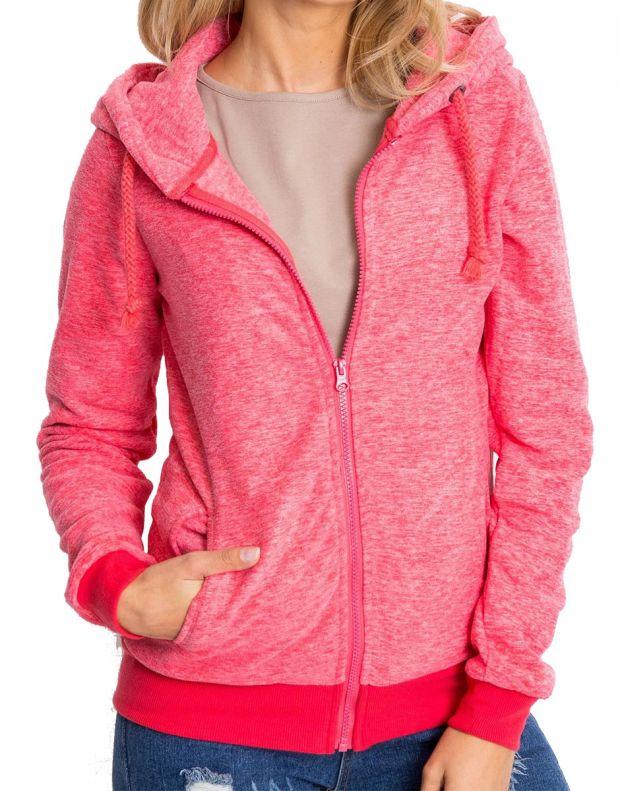 SUBLEVEL Fleece Zip Hoodie Red - 1