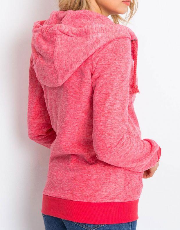 SUBLEVEL Fleece Zip Hoodie Red - 3