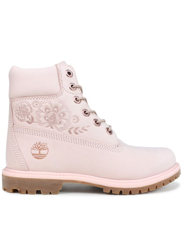 TIMBERLAND 6-Inch Premium Waterproof Embossed Boots Pink - A1TKO - 2