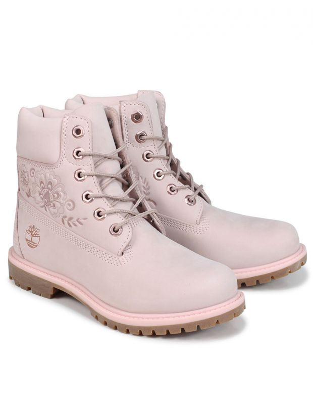 TIMBERLAND 6-Inch Premium Waterproof Embossed Boots Pink - A1TKO - 4