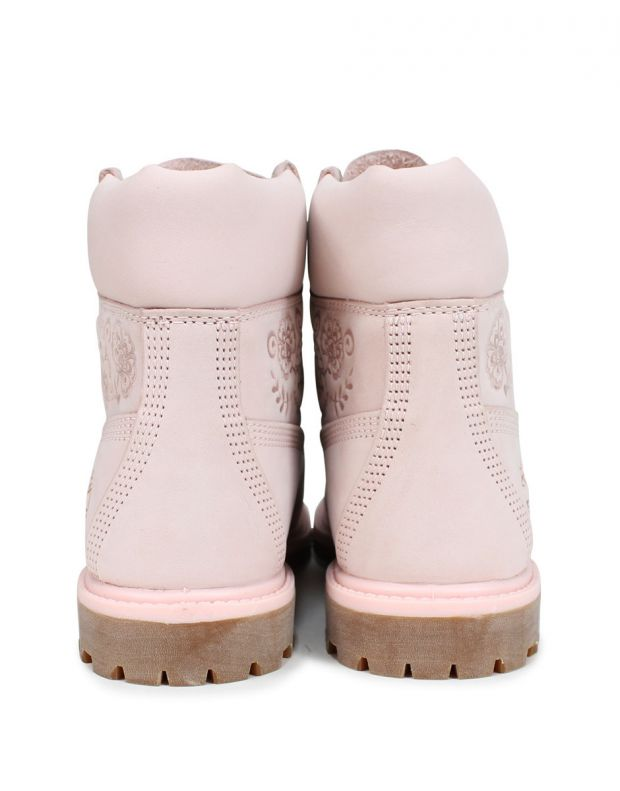 TIMBERLAND 6-Inch Premium Waterproof Embossed Boots Pink - A1TKO - 5