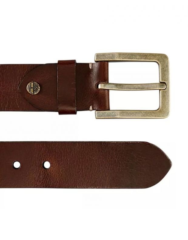 TIMBERLAND Buffalo Leather Belt Brown - 2