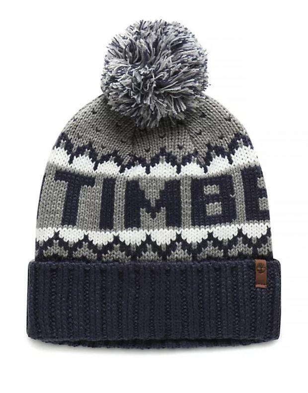 TIMBERLAND Logo Cuffed Pom Hat A1EH2-TB9