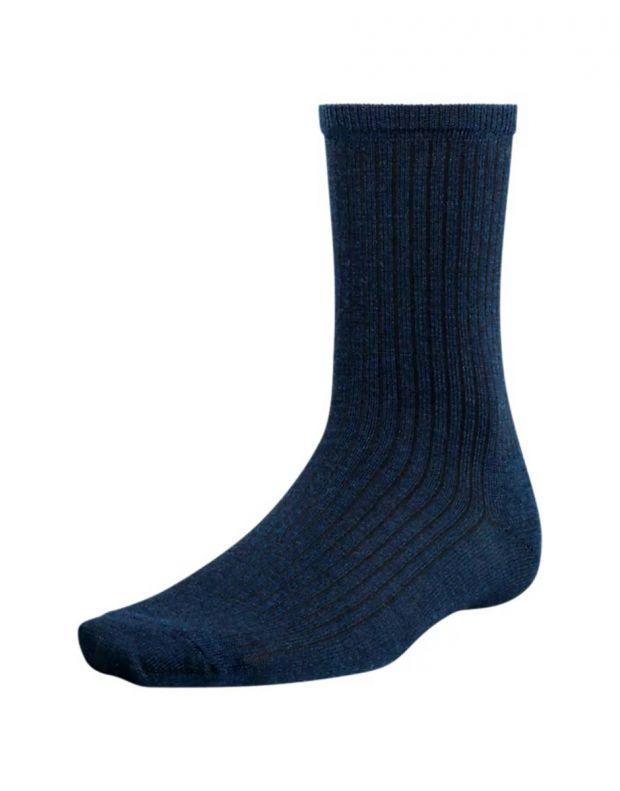 TIMBERLAND Premium Wool Ribbed Crew Socks Navy - A17KK-145 - 1