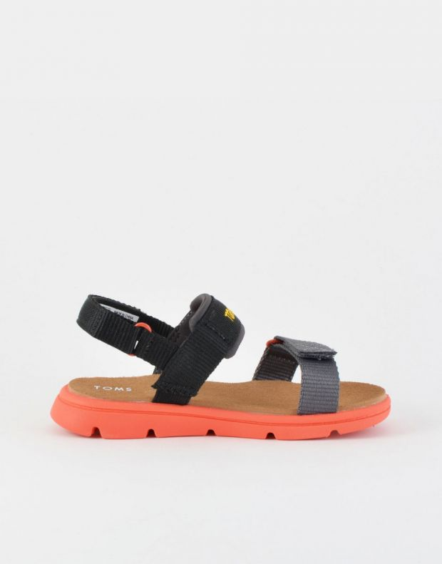 TOMS Solid Webbing Sandal Black - 10013354 - 2